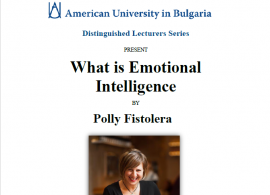 "Distinguished Lecturer Series: ""What is Emotional Intelligence?"", by Polly Fistolera, Feb. 25, 2016"
